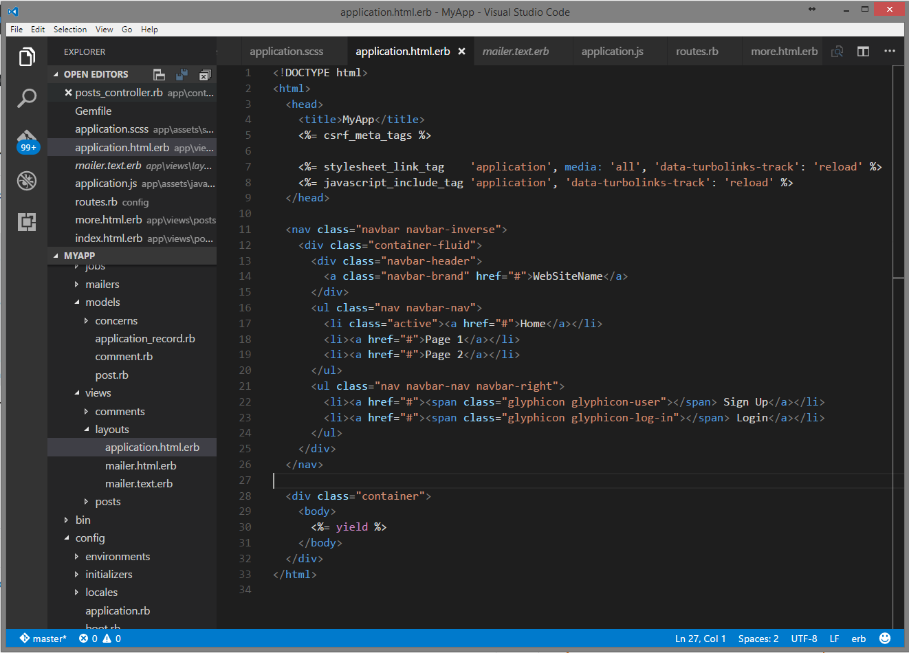 Chapter 1  Bootstrap Framework · Ruby On Rails Tutorial